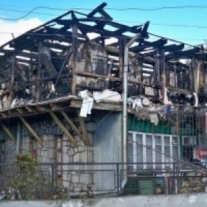 Пожар в Кореизе и на Вергасова