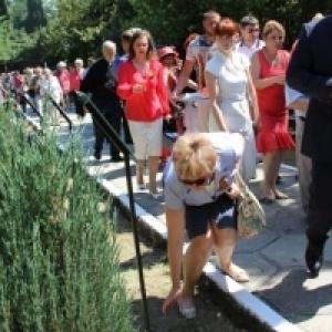 Открытие Аллеи Героев в Ливадийском парке